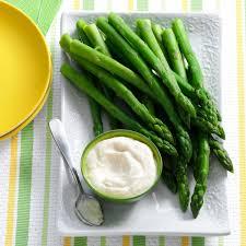 asparagus with horseradish dip recipe taste of home