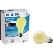 bug light light bulbs philips bug a way a19 medium incandescent bug light bulb walmart com