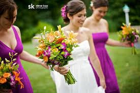 purple and orange wedding dress purple and orange chicago wedding at the kenilworth