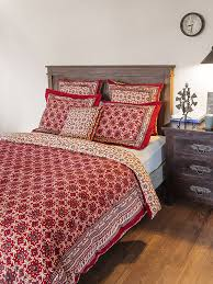 Red Duvet Set Indian Duvet Covers Moroccan Duvet Covers Block Print Duvet