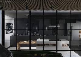 Framed Kitchen Cabinets Contemporary Kitchen 36 Stunning Black Kitchens Design