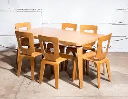 Birch Kitchen Table by Rare Birch Thaden Jordan Dining Table Van Der Most Modern