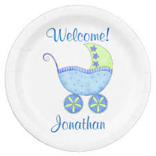personalized baby plate welcome baby plates zazzle