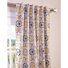 Yellow And Grey Curtain Panels Exclusive Fabrics Soliel Yellow Grey Damask Blackout Curtain