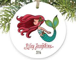 mermaid ornaments etsy