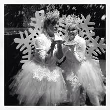 snowflake costume handmade tutu crown made from 1 ornaments and