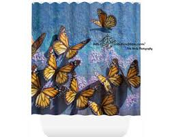 Blue Butterfly Curtains Butterfly Curtains Etsy