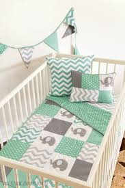Grey And Green Crib Bedding Grey And Mint Green Bedding Bedding Designs