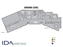 Airport Terminal Floor Plans by Terminal Map Idaho Falls Id