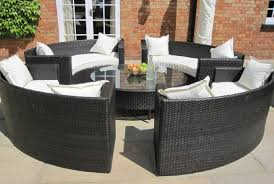 outdoor garden tables uk oakita lauren rattan garden furniture circular sofa set my pins