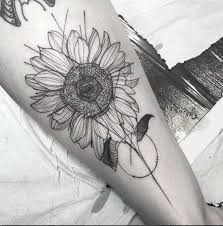 40 fantastic sunflower tattoos that will inspire you to get inked