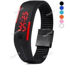 bracelet digital watches images 1 79 6 16 new silicone bracelet electronic digital led sport jpg