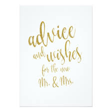 Advice For The Bride And Groom Cards Wedding Advice Cards Photocards Invitations U0026 More