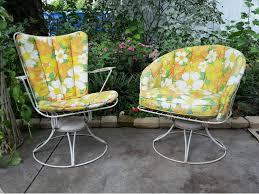Vintage Outdoor Patio Furniture - mid century modern homecrest patio chairs set wire swivel vintage