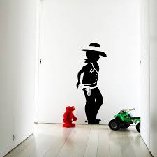 popular cowboy wall stickers buy cheap cowboy wall stickers lots cowboy wall sticker decal removable home decoration self adhesive wall decals for living room black silhouette