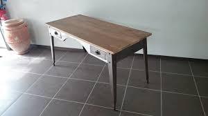 bureau metal et bois bureau industriel metal