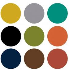 modern color scheme mid century modern color chart the predominate color palette for