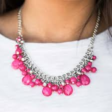 pink necklace images 95 off paparazzi jewelry silver and pink beaded statement jpg
