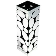 Black And White Vases Rosie Vase In Silver With Pebble Pattern Mirror 25626