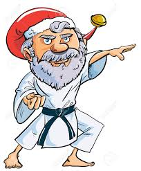 santa clipart karate pencil and in color santa clipart karate