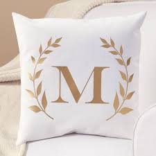 personalized gold initial throw pillow walmart com