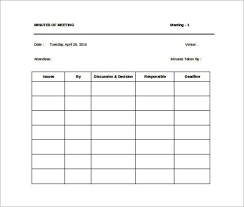 awesome staff meeting minutes word template free download