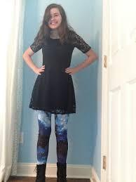 fresh take leggings in blue universe modcloth