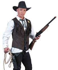 Mens Cowboy Halloween Costume Wild Western Outlaw Costume Costumelook