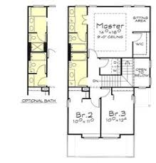 upper floor plan for 9920 narrow lot house plans small lot house