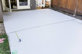 Done Deal Patio Slabs How To Paint Stripes Like An Outdoor Rug On Patio Concrete Slab