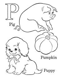 123 coloring pages alphabet coloring pages letter p free printable farm abc