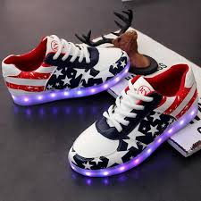 light up shoes for sale 34 44 led light up shoes for women usa independence day blue white