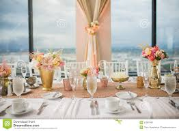 wedding reception table centerpieces wedding centerpieces stock photo image 54451265