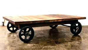 industrial coffee table with wheels industrial coffee table with wheels glass coffee table on wheels