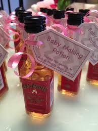 co ed baby shower favours baby making potion just for fun