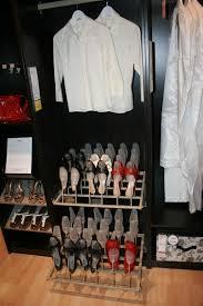 Black Closet Design Sliding Shoe Rack For Black Wooden Closet Design Ideas