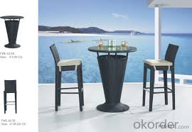 Patio High Table by Buy Pe Rattan Bar Set Outdoor Stool Patio Furniture Wicker High