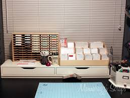 mamarazzi scraps final desk setup stamp n storage organization