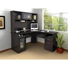 L Desk With Hutch Bush Fairview L Shaped Computer Desk With Optional Hutch Antique