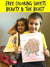 beauty beast free coloring sheets beauty