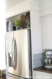 how to build a cabinet around a refrigerator diy refrigerator enclosure kitchen renovation kitchen