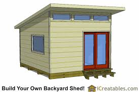 Making Your Own Shed Plans by 16x12 Modern Studio Shed Plans