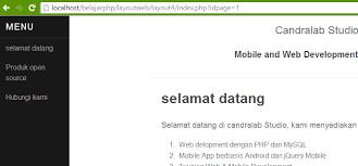 cara membuat halaman utama web dengan php teknik membuat halaman web dinamis dengan php mysql candralab