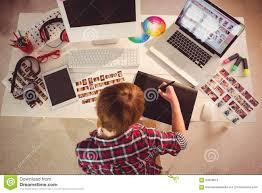 designer desk best painter workplace order side view designer