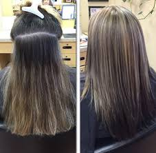 coloring gray hair with highlights hair highlights for a great way to help blend grey roots is by adding some highlights to