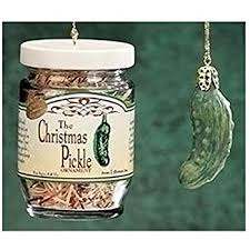 world pickle glass blown ornament home