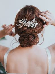 gold hair accessories stunning large bridal leaf gold hair comb chelsea bridal