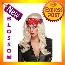 halloween costume blonde wig w112 lady gaga judas video bandana halloween costume blonde biker