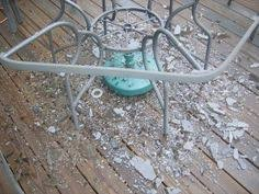 replace broken glass table top diy replace glass tabletop with tile weekend warrior wednesday
