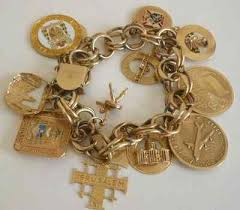 charm bracelet charms gold images Vintage estate charm bracelet with 11 14k yellow gold charms jpg